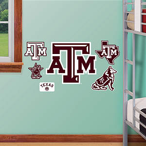 Texas A&M Aggies - 2012 Team Logo Assortment Fathead Wall Decal